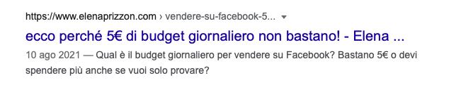 title riscritto da Google